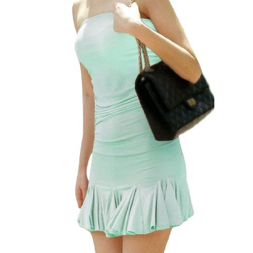 Femme Elastique avec bustier été recueillies détail de vêtements Clair Mint