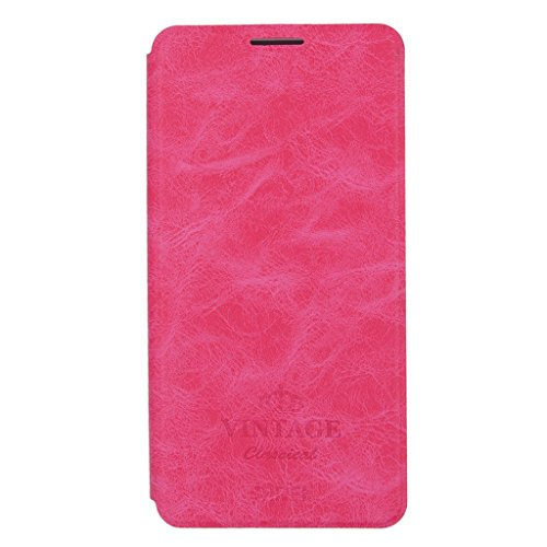 KaiTelin Apple iPhone 7 Hülle - Clamshell Multi Angle Ständer Leder Tasche Case für Apple iPhone 7 - Braun Rose