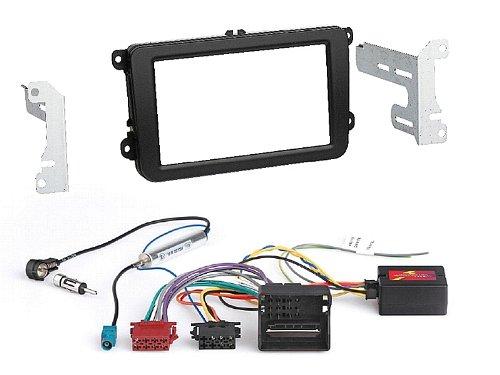 2 DIN/Doppel DIN Radio Einbauset incl. Canbus-, Radio-, und Antennenadapter Passend für VW, Skoda, SEAT, Volkswagen 2 Din Kit