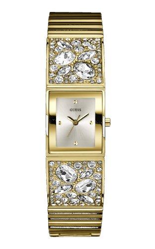Guess Ladies Gold Tone Stone Set Bracelet Watch W0002L2