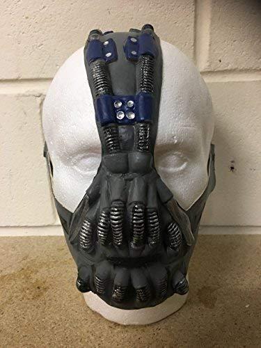 Wrestling Bane Latex Halloween Kostüm Verkleiden Outfit Batman - Maske - Universalgröße mit Klettverschluss Anhänger End of Riemen (Batman Halloween Outfit)