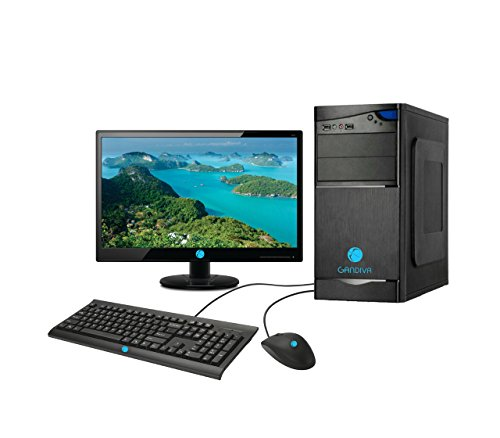 "Gandiva Assembled Desktop - Core 2 Duo, G31 Motherboard, 4GB DDR2 RAM, Without DVD Drive, 15.6"" Monitor (320GB)"