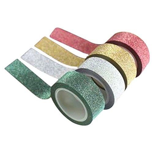 5m-4-colors-glitter-washi-sticky-paper-masking-adhesive-tape-label-diy-craft-decor