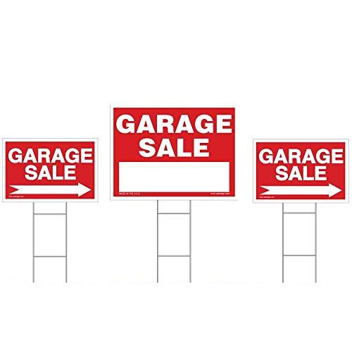 Sam 'S Schilder Garage Sale Sign Kit, (1) 18x 24Yard Sign, (2) 12x 18gerichtete Schilder, (3) Draht Einsatz