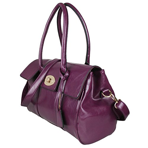 Miss Lulu Fashion, in finta pelle, con borsa a tracolla Viola (viola)