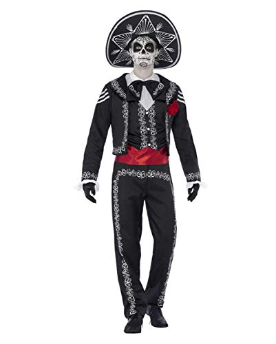 Kostüm Mariachi Skelett - Day of The Dead Sugar Skull Herren-Kostüm Bräutigam L