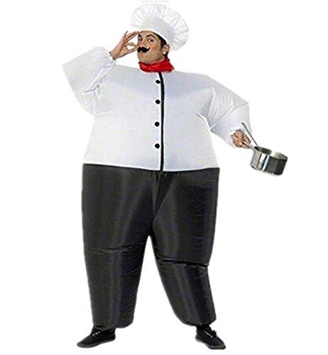 Traje inflable Disfraces Hinchable de Cocinero Adulto para Fiesta Halloween Carnaval