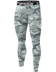 Tesla Homme Cool Compression sèche pantalons Leggings Capri Shorts collants P16