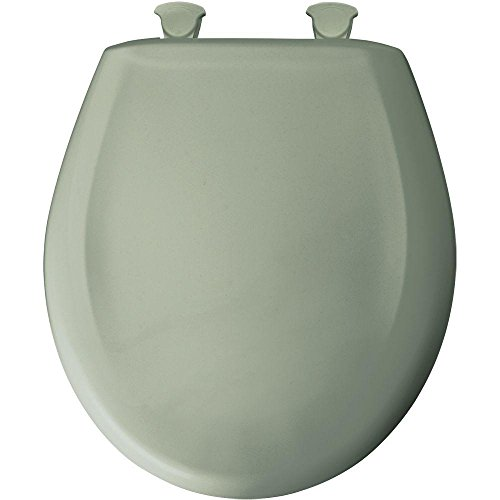 Round Closed Front Plastic Toilet Seat with Cover, Aspen Green by Bemis - Aspen Green