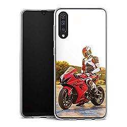 DeinDesign Slim Case kompatibel mit Samsung Galaxy A50 Silikon Hülle Ultra Dünn Schutzhülle Meddes Motorrad Youtuber