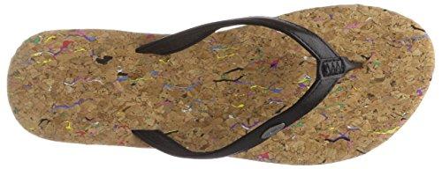 O'Neill Damen FW Cork Bed Flip Flops Zehentrenner, Schwarz (9010 Black Out), 37 EU