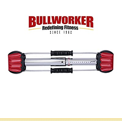 "Bullworker 20"" Steel Bow - Full Body Workout - Portable Home Gym Isometric Exercise Equipment for Fast Strength Training Gains. Cross Training Fitness; Chest, Back, Arms, and Abs Exercise Machine from Bullworker®"