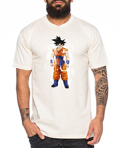Goku Blitz Nerd Herren T-Shirt in verschiedenen Farben Beige