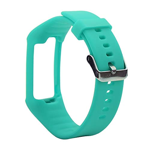 LUOFUSHENG Smartwatch-Uhrenarmbänder Silikon-Sporthandgelenksschlaufe for Polar A360 / A370 (Schwarz) Ersatzarmbänder (Farbe : Mint Green)