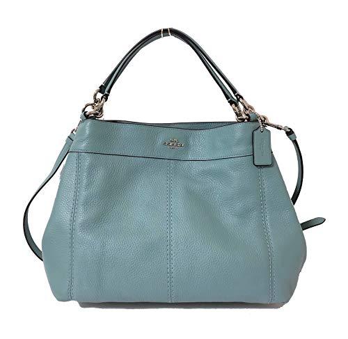 Geldbörsen Coach Handtasche (Coach Lexy Schultertasche/Handtasche aus Pebbled Leder, klein, Grau (Wolke), Small)