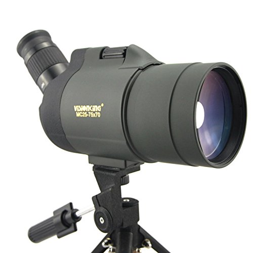 Visionking 25-75x70 Maksutov 100% Waterproof Bak4 Spotting scope w/ Tripod Case Mainly Color Green by Visionking