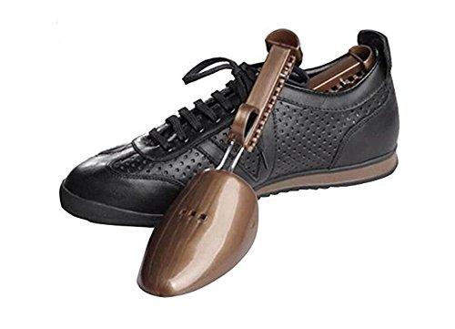 Frauen Herren Kunststoff Praktische Tragbare-Schuh Unterstützung Gute Form Schuh Baum-verstellbare Schuhspanner Stiefel Halter Shaper, plastik, braun, Men size (Schuh-baum Rack)