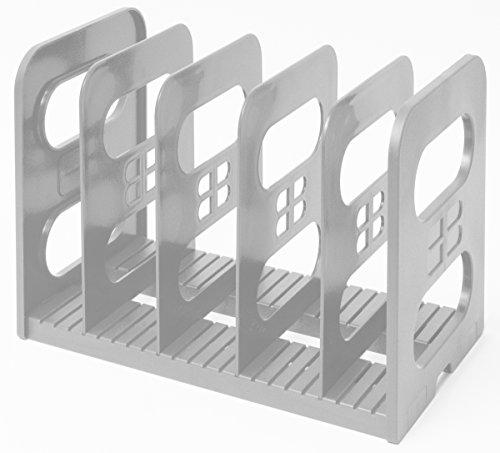 Popinjay MaXi-File Verstellbare Aktenablage aus Plastik (Grau)