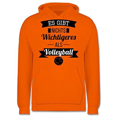 Volleyball - Es gibt nichts Wichtigeres als Volleyball - Männer Premium Kapuzenpullover / Hoodie Orange