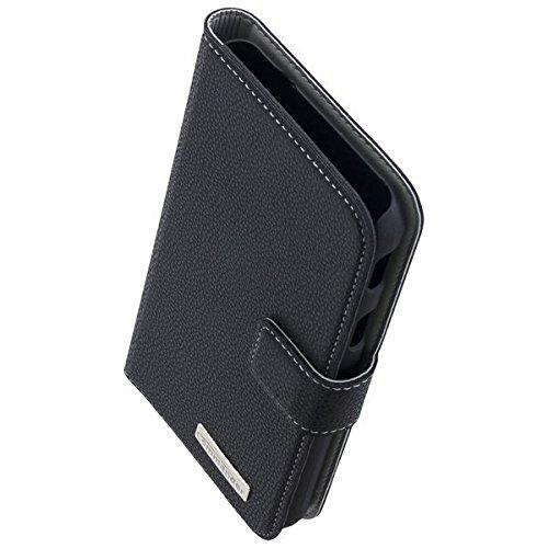 COMMANDER Tasche BOOK CASE ELITE Black für Samsung Galaxy XCover 4 SM-G390 inkl.Reinigungstuch iMoBi Vapor 4 Bumper Case