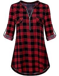 Amazon itBlusas A Camisetas Cuadros CamisetaTop Y N0m8wn