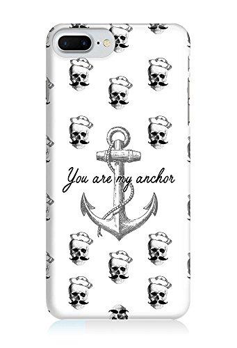COVER Mustache Anker Grafik schwarz weiss Design Handy Hülle Case 3D-Druck Top-Qualität kratzfest Apple iPhone 6 6S