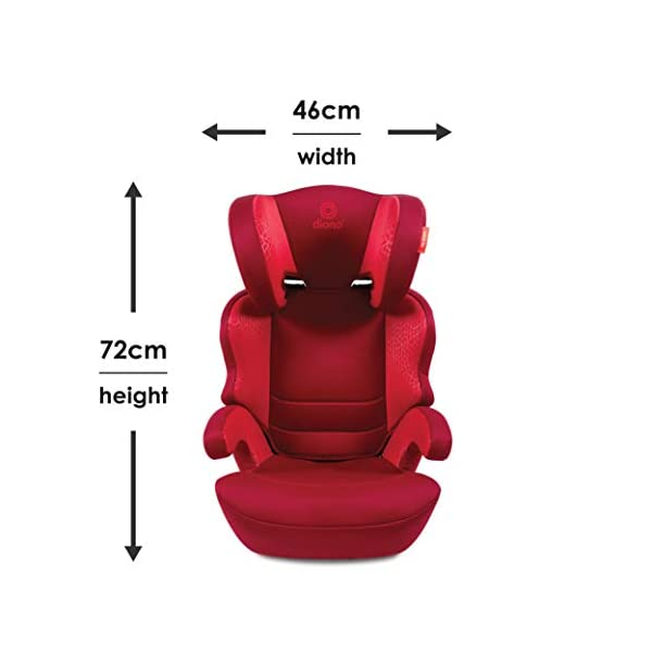 Diono Everett NXT Fix Highback Booster Seat - 7 Position Adjustable Headrest, Group 2/3 (15 - 36 kg and Up to 160 cm In Height), Approx. 4-12 Years, Plum Diono Designed to grow: group 2/3 car seat is suitable from 18kg - 50kg, approx. 4 to 12 years old. The 7-position adjustable headrest can be altered using the handle on the back of the seat Superior safety: cushioned side impact protection has been engineered and tested to the highest standards. The ergonomic design includes extra padding to provide comfort and security as a child grows Universal connectivity: parents can install the seat using the vehicle seatbelt or use the integrated rigid latch connectors that anchor the seat to the car allowing the child to buckle themselves in 8
