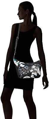 Desigual Bols_arcadia_somalia, Sacs bandoulière femme, Noir (Negro), 10x22x31 cm (B x H T)