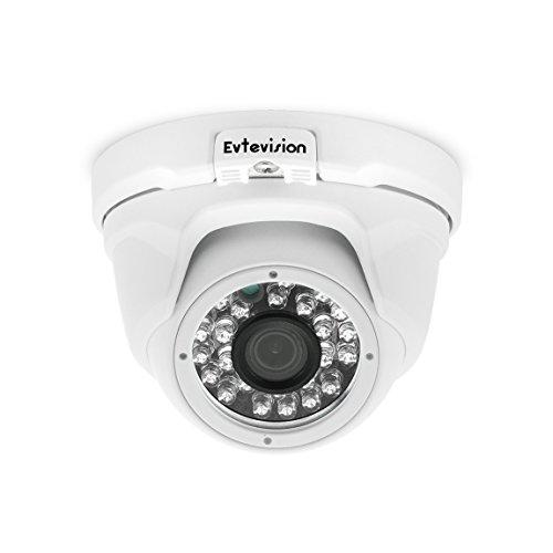 Evtevision 1080P Überwachungskamera CCTV Überwachung 4 in 1 TVI/CVI/AHD/Analog 3.6 mm Weitwinkel 24 Infrarot-LED Color Vision schwarz wasserdichte Kamera with OSD Menü IR CUT