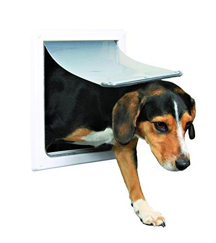 Trixie Pet Products 2-Wege-Tür Hund, Small - Medium, weiß