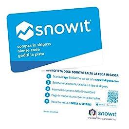 2 x Snowitcard – Tessera skipass Multi località