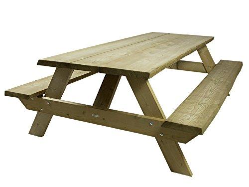 Baumstamm Picknicktisch Farm 180 cm, ländlicher, rustikaler Picknicktisch
