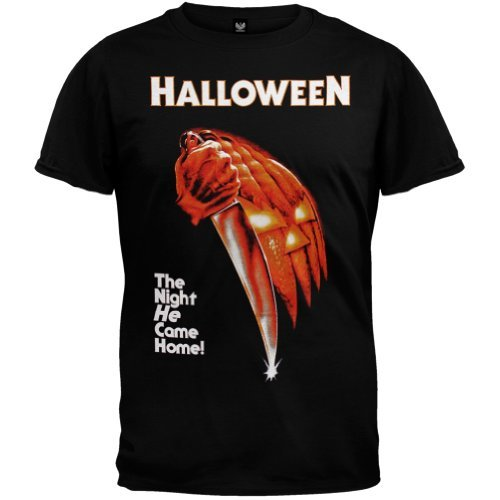 Halloween - Nacht kam er nach Hause Adult T-Shirt in Schwarz, X-Large, Black
