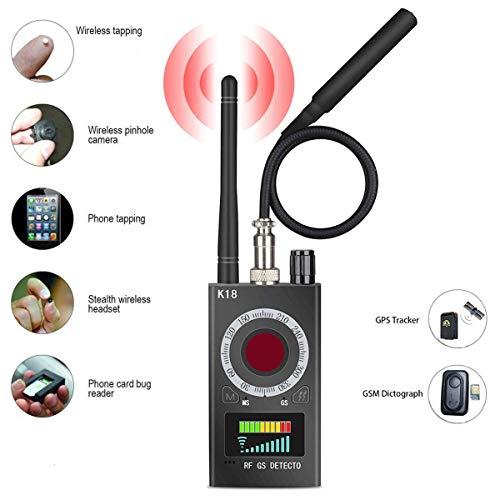 Super-Detektor (K18) – Tracker für professionelle Funkerkennung – zum Aufspüren und Überwachen von Mobilfunksignale (inkl. CDMA), Wanzen, Autos, GPS-Signalen und