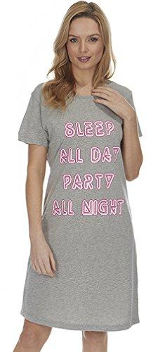 Dannii Matthews Damen Nachthemd Grau - Grau-meliert