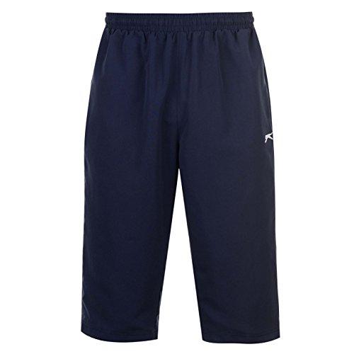 Slazenger Herren SL Woven 3/4 Trainingshose Shorts Marinefarbe M (Bei 3/4 Woven Pant)