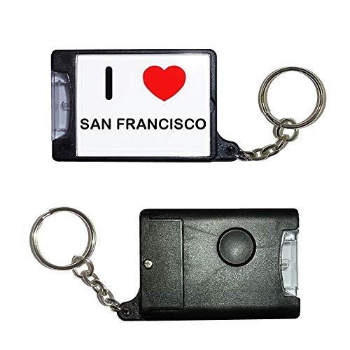 BadgeBeast.co.uk I Love San Francisco - Schwarze Taschenlampe