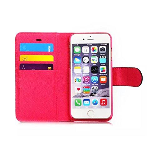 TBS Doublure Miroir Étui portefeuille à rabat latéral en cuir style Téléphone portable coverf4m7, Cuir, blanc, iPhone 6 Plus blanc