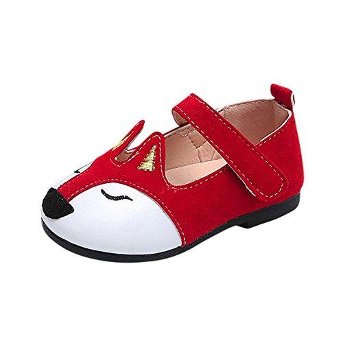 (QinMM Baby Fashion Kleinkind Kinder Fuchs Ballerina Pricness Casual Flache Schuhe (EU:20, Rot))