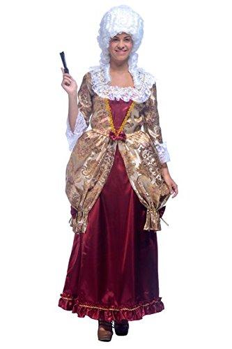 Aptafêtes–cu060619/14–16–Baroness Kostüm Kleid mit (Age Femme Moyen Kostüm)