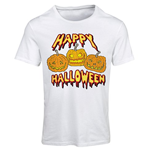 Frauen T-Shirt Happy Halloween! Party Outfits & Costume - Gift Idea (Medium Weiß (Ideen Für Diy Kostüme Erwachsene Halloween)