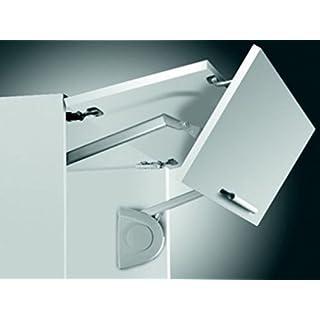 Gedotec® Kesseböhmer Huwilift Hochfaltbeschlag Senso Klappenbeschlag Klappenbeschläge - Heimwerkertools Komplett Set (640-700mm/ 8-16 kg)