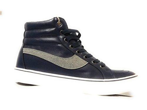 ORIGINAL MARINES scarpe uomo ragazzo alte blu fashion skate (41)