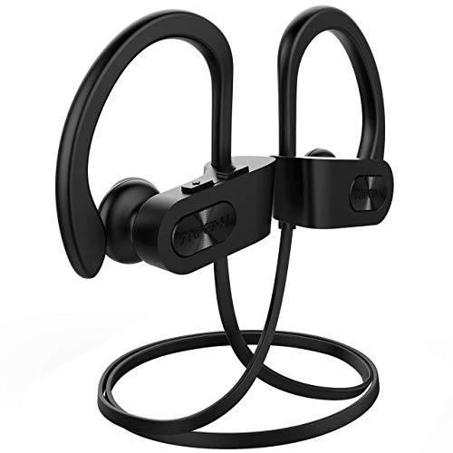 Mpow Écouteur Bluetooth Sport, Casque sans Fil Intra Auriculaire Bluetooth Etanches IPX7 Wireless Headphones avec Microphone Audio Stereo Compatible avec iPhone Android etc-Noir