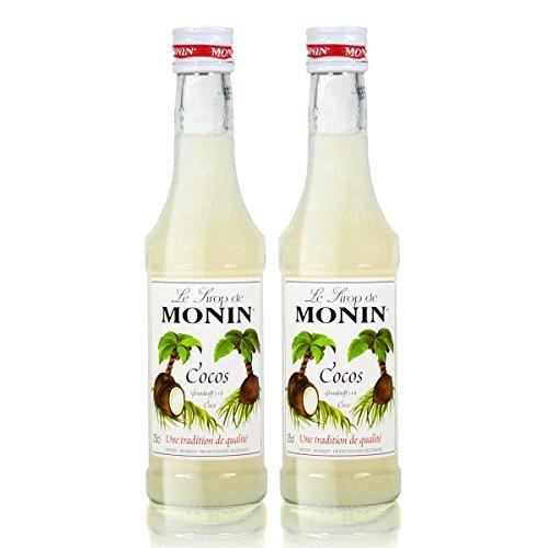 2x Monin Cocos Sirup, 250 ml Flasche