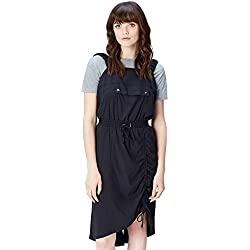 find. Women's Dress Dungaree Front Pocket, Blue (Navy), 8 (Manufacturer size: X-Small)