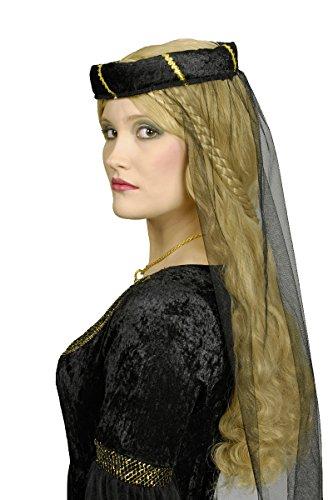 Schwarze Prinzessin Burgfräulein Kostüm Gr. 40 42 - 4