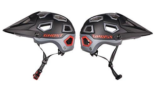 GHOST All Mountain Helmet - schwarz/grau/rot (55-59)