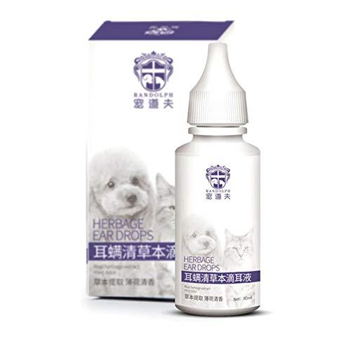 VCB Pet Ohr Tropfen Hund Ohr Entzündung Anti-Hund Ohr Milbe Medizin Wash Ohr Wasser - Weiß