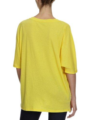 Bobi Damen T-Shirt 525-08022, V-Ausschnitt Gelb (Banana)